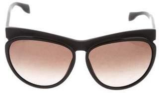 Alexander McQueen Matte Oversize Sunglasses w/ Tags
