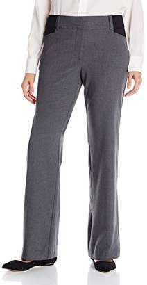 Briggs New York Women's Bi-Stretch Bootcut Pant with Short Ponte Inset