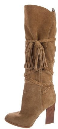 Michael Kors Suede Lace-Up Boots