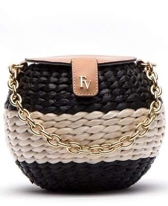 Frances Valentine Mini Woven Bucket Bag