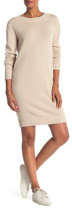Vince Ribbed Wool & Cashmere Blend Sweater Dress