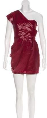 Lela Rose One-Shoulder Mini Dress