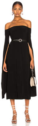 Norma Kamali Tulip Sleeve Off The Shoulder Dress