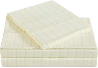 Charisma Classic Cotton Sateen 310 Thread Count Stripe Pair of King Pillowcases