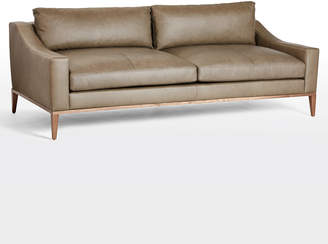 Rejuvenation Laurelwood Leather Sofa