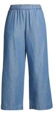 MICHAEL Michael Kors Denim Wide-Leg Pants