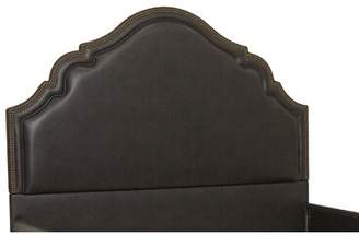 Britannia Everly Quinn Faux Leather High Arch Upholstered Panel Headboard Everly Quinn