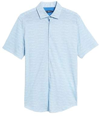 Stone Rose Trim Fit Melange Sport Shirt