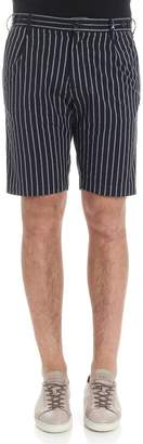 Myths Pinstriped Shorts