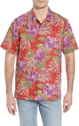 Tommy Bahama Hibiscus Cove Short Sleeve Silk Blend Sport Shirt