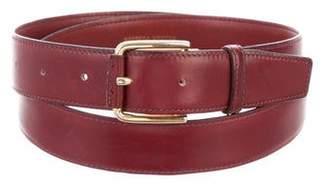 Bottega Veneta Burgundy Leather Belt