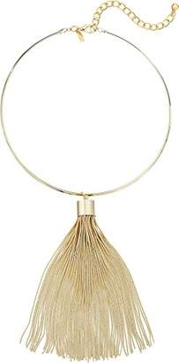 Kenneth Jay Lane Women's Polished Choker with Snake Chain Tassel