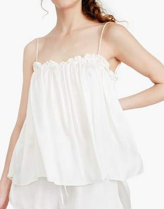 Madewell The Great Eros Silk Dia Ruffle Tie-Back Camisole