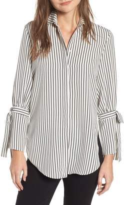 Bishop + Young BISHOP AND YOUNG Stripe Tie Sleeve Blouse