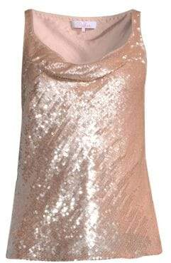 Parker Cowl Sequin Tank Top