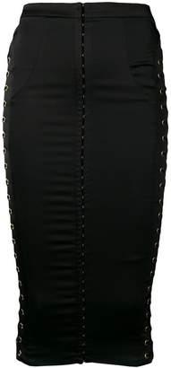 Murmur side lace-up pencil skirt