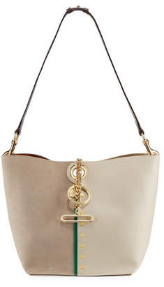 See by Chloe Gaia Leather and Suede Shoulder Bag