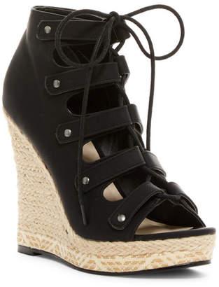 Michael Antonio Gizi Ghilli Platform Wedge Sandal $59 thestylecure.com