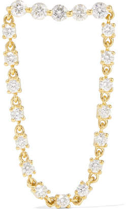 Anita Ko Bar Loop 18-karat Gold Diamond Earring