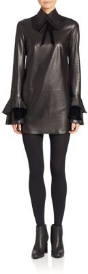 Ralph Lauren Collection Laverne Leather Dress $3,690 thestylecure.com
