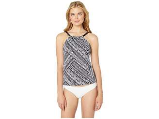 24th & Ocean Tribal Beat High Neck Over the Shoulder Tankini Top