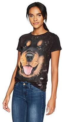 The Mountain Bf Rottweiler Puppy Adult Woman's T-Shirt