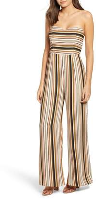 Leith Strapless Striped Jumpsuit