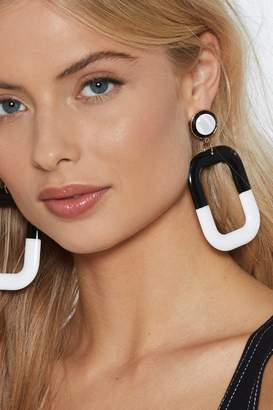 Nasty Gal There's No Place Like Monochrome Drop Earrings