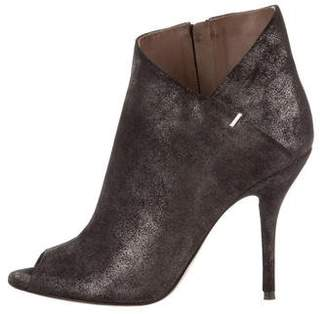 Calvin Klein Collection Kella Metal Dusted Nubuck Booties