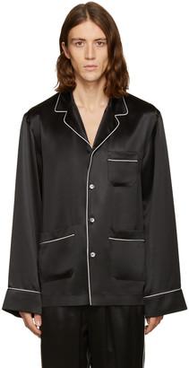 Dolce & Gabbana Black Silk Pyjama Shirt $945 thestylecure.com