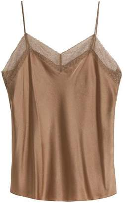 Vince Lace-Trimmed Silk-Satin Camisole