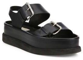 Stella McCartney Buckled Faux-Leather Platform Sandals