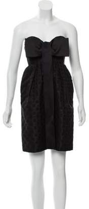 Stella McCartney Jacquard Strapless Dress Black Jacquard Strapless Dress