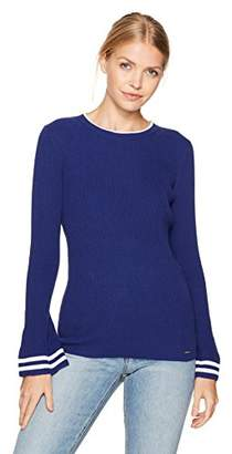 Nautica Women's Long Ribbed Bell Sleeve Sweater