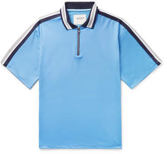 Noon Goons Webbing-Trimmed Stretch-Jersey Polo Shirt - Light blue