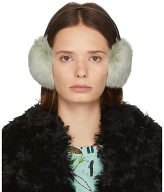 Yves Salomon Grey Rabbit Earwarmers