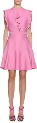 Giambattista Valli Ruffle-Trim A-Line Dress