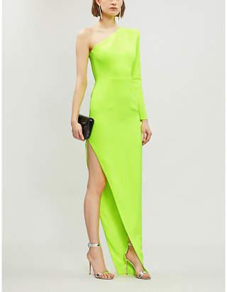 Alex Perry Jolie asymmetric crepe dress