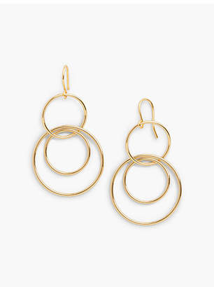 Talbots Interlocking Hoop Drop Earrings