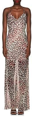 On The Island Women's Leopard-Print Silk Maxi Dress