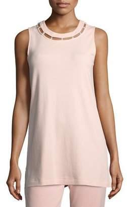 Joan Vass Shell w/ Pearl Inset, Plus Size