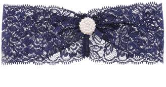 MonkeyJack Navy Blue Ladies Bride Garter Hens Night Garter Lace Bow Thigh Leg Ring