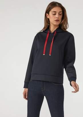 Emporio Armani Sweatshirt With Sequin Logo On The Hood