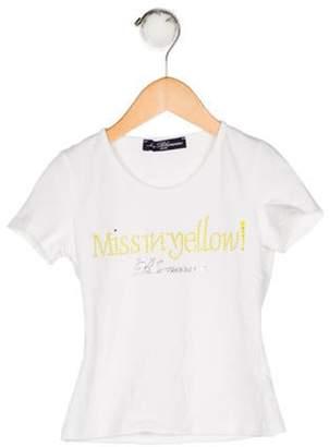 Blumarine Girls' Embellished T-Shirt white Girls' Embellished T-Shirt