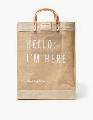 Apolis Hello: I'm Here Market Bag