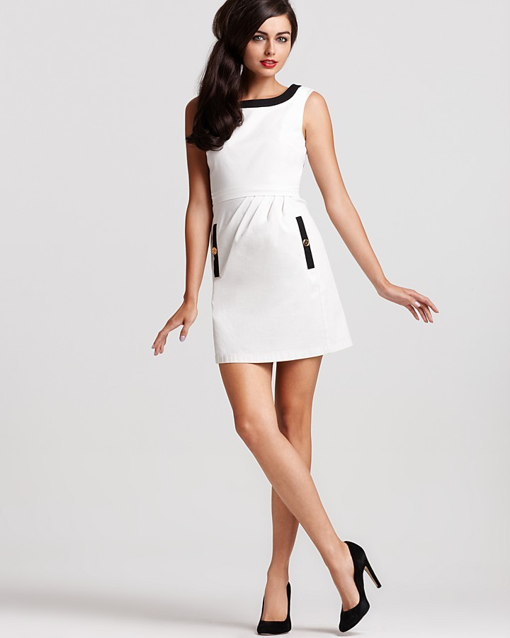 Moschino Cheap and Chic Sleeveless Color Block Dress