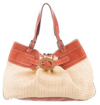 Anya Hindmarch Leather-Trimmed Woven Bag