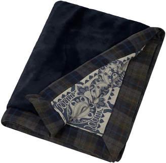 Etro Feytiat Reversible Faux Fur Throw - Blue