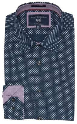 Report Collection Micro Dot Performance Stretch Modern Fit Dress Shirt