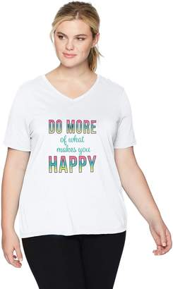 Fruit of the Loom Fit for Me by Women's Plus Size Active Graphic Tee